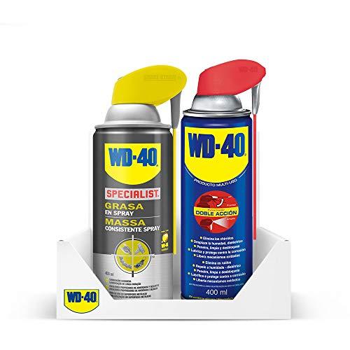WD40 Pack 400ML Doble Acción + Grasa en Spray...