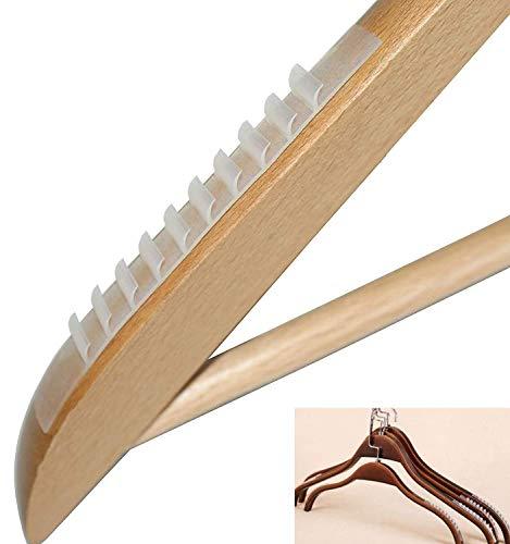 Istloho 40X Antirutsch rutschfest Streifen Anti Rutsch für Kleiderbügel Bügel Pads Silkon, Weiss