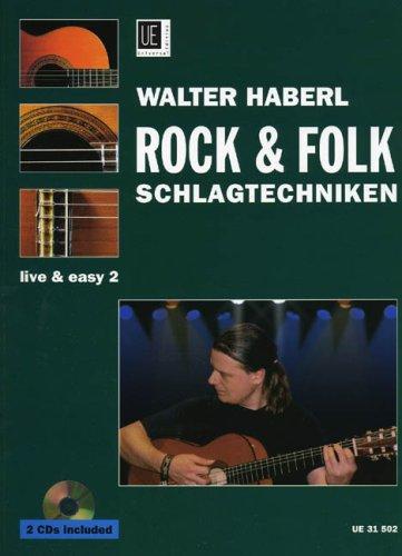 Rock + Folk Schlagtechniken. Gitarre