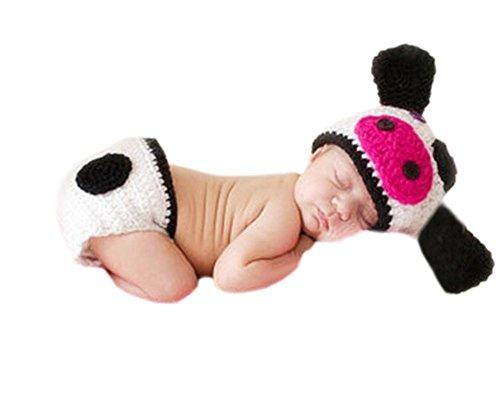 DELEY Bébé des Vaches à Lait Chapeau de Pantalon Set Boy Filles de Prise de Vue Photo Accessoires de 0 à 6 Mois