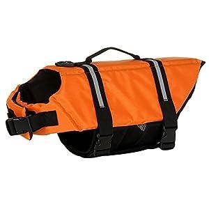 Chien Lifesaver Sécurité Gilet réfléchissant, Pet Life Jacket Taille réglable Preserver Saver Gilet de sauvetage Manteau pour natation Surf Bateau de chasse