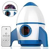 Amouhom Sternenhimmel Projektor, LED Raketenform Baby Lampe mit Fernbedienung Kinder Nachtlicht...