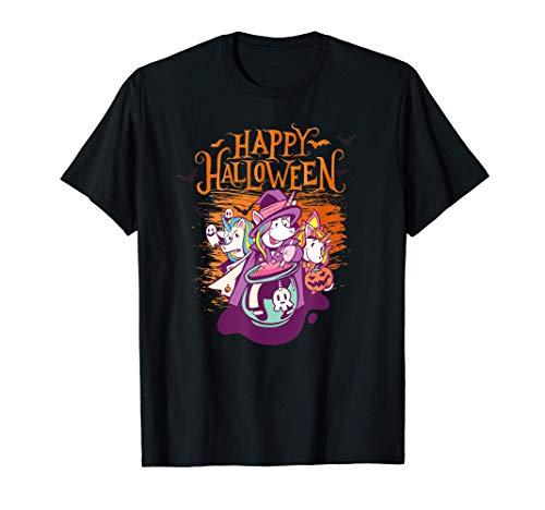 Feliz disfraz de unicornio de Halloween Camiseta