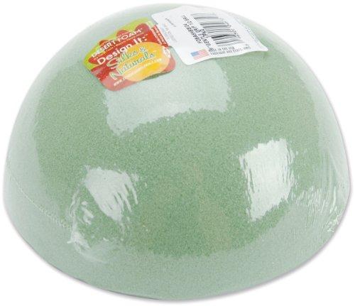 Floracraft FOBA6HB Dry Foam Half Ball, 6-Inch x 3-Inch, Green