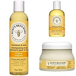 GENTLE BABY CARE: Put together to nourish and care for your baby's delicate skin, this Baby Bee Bundle contains 3 products which contain a careful mix of ingredients that are super kind to new skin BABY REGIME: With a shampoo and body wash that works...