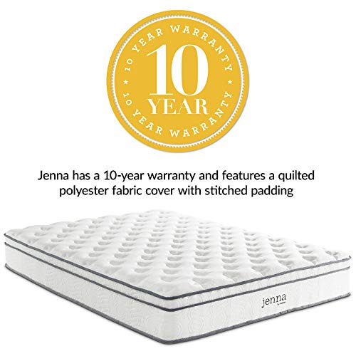 Modway AMZ-5771-WHIJenna 10 King Innerspring Mattress - Top Quality Quilted Pillow Top - Individually Encased Pocket Coils - 10-Year Warranty