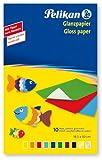 Pelikan 137935 - Glanzpapier gummiert, 10 Blatt