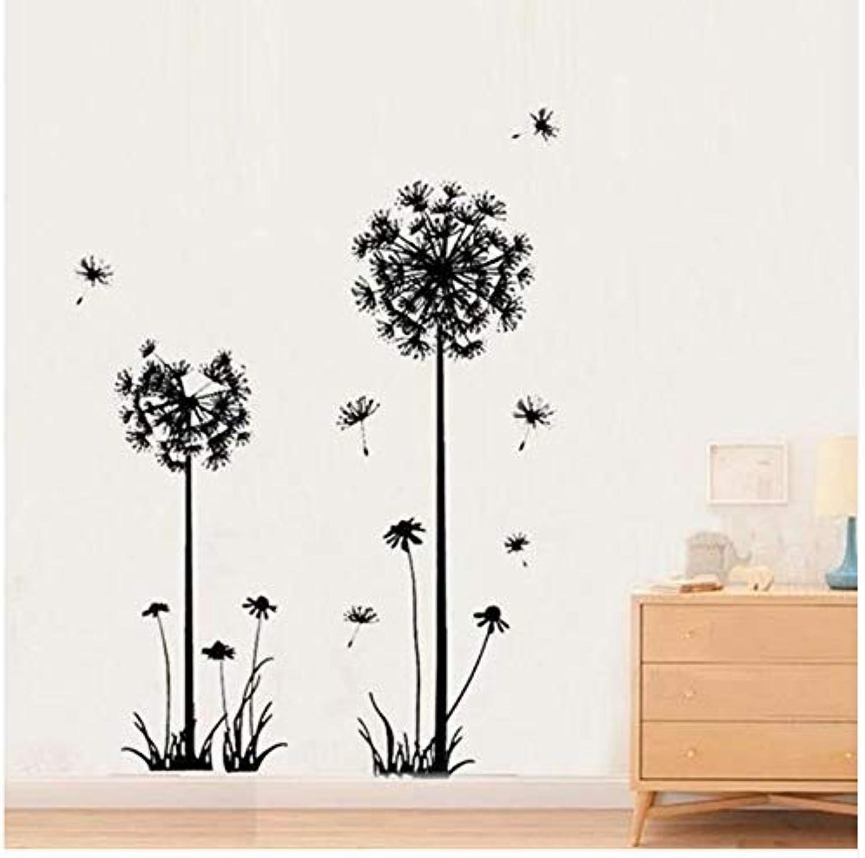BMY Fashion Black Dandelion Wall Stickers Pepa Modern DIY Stickers for Living Room Bedroom Wall DIY Home Decor Accessories