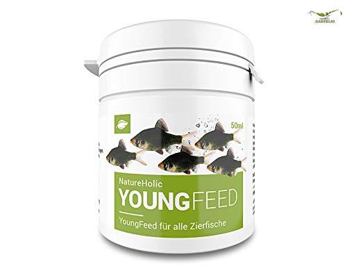 NatureHolic YoungFeed - Aufzuchtfutter - Futter für Fische im Aquarium - Aufzucht – 50 ml