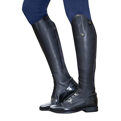 HKM 9112 - Stivali da equitazione Sevilla, in pelle bovina, misura standard, unisex, 36-46