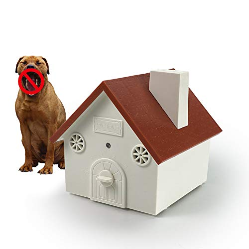 Unicam Anti Barking Device, Ultrasonic Bark Deterrents Controller, Dog Bark Control System Device, Waterproof Outdoor Red Birdhouse Shape, Mini, Durable
