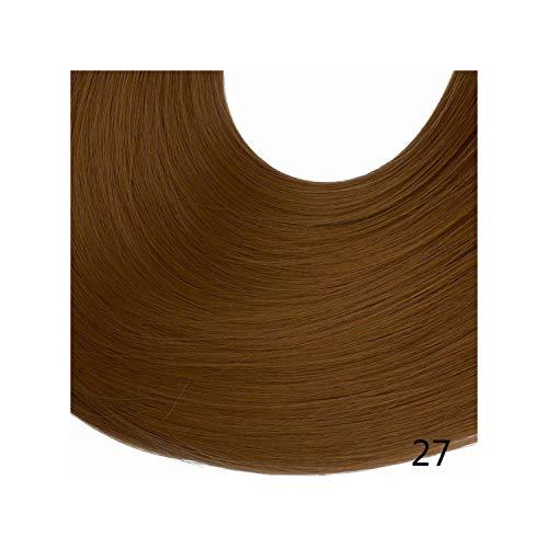 bester der welt Haarverlängerungsclip 20 ″ Blond 3/4 Kopf Synthetic Wave Hair Lockige Haarsträhne… 2021
