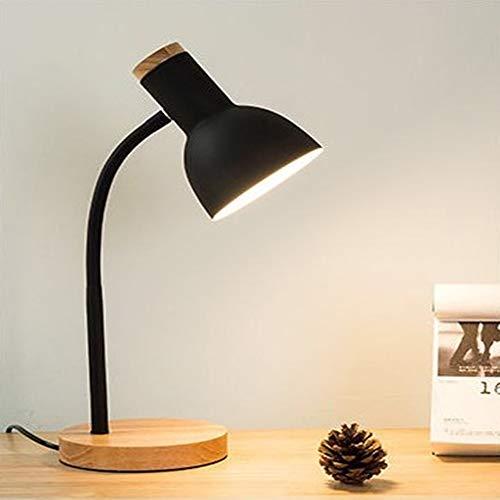 Xing Nordic Minimalist slaapkamer studio oogbescherming zwart LED Desk Lamp voor kinderen Imparano Leggings Solid USB hout ijzer tafellamp
