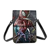 XCNGG Monedero pequeño para teléfono celular Movie S-Piderman Cell Phone Purse Small Crossbody Bag Women Leather Mini Cell Phone Pouch Shoulder Bag to Carry Dexterous Convenience with Adjustable Strap