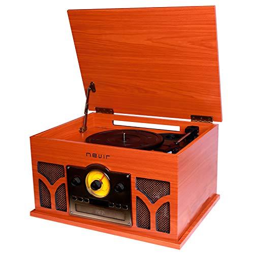 Nevir - Tocadiscos con Radio CD conversor Bluetooth nvr-