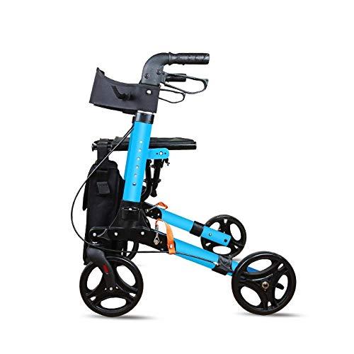 Shopping cart Carrito de Compras para Ancianos, Sentado en el Carro, Carro Plegable de Aluminio, scoote de Cuatro Ruedas