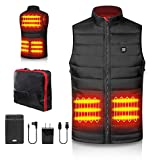 PETREL Heated Vest Electric Lightweight Heating Jacket for Men or Women USB Charging Heating Waistcoat with Battery Packs for Fishing Hiking Camping Hunting Skiing