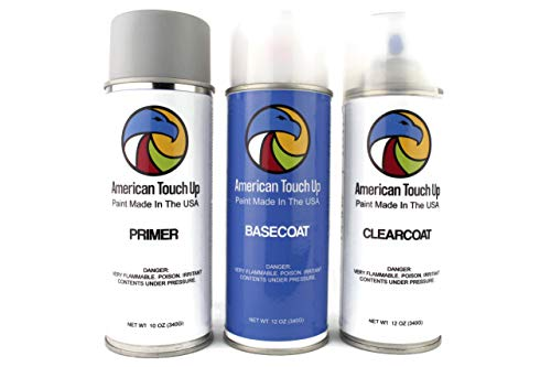 American Touch Up | Automotive Touch Up Paint for Volkswagen | K9K9/K9/W5Y/LW5Y/9094 Techno Blue Metallic | OEM Spray Paint (Primer/Basecoat/Clearcoat)
