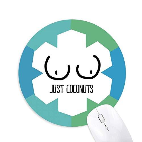 Nur Kokosnüsse Lustige Zeichnung Rund Rubber Blue Snowflake Maus Pad