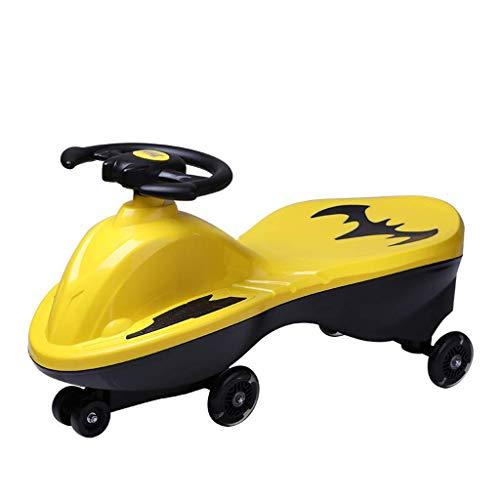 Adesign Fahren Sie mit dem Auto, ohne Batterien, Getriebe oder Pedale, verwenden Sie Twist, Turn, Wackelbewegung, um das Auto for Kleinkinder, Kinder ab 2 Jahren zu steuern (Color : Yellow)
