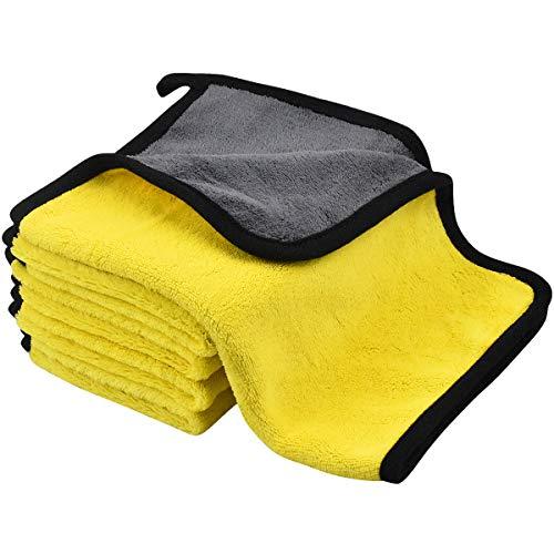 5 Pezzi Panno in Microfibra, Panno in Microfibra per Auto, Qualità Premium Panno Asciugatura Auto, Panno per Lucidatura per la Cura Ddell'Auto, Asciugamano per Autolavaggio per Lucidatura Ceretta