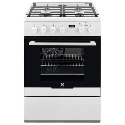 Electrolux EKK64984OW - Cocina de clase A con horno eléctrico ventilado, 4 fuegos de gas