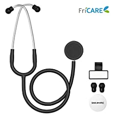 SAFETY PROMISE: Metal O-Ring on the diaphragm side can be removed easily and be disinfected more thoroughly. It helps prevent cross infection and keep the medical providers and patients safer. VERSATILE DESIGN: Turntable chestpiece and flexible tubin...