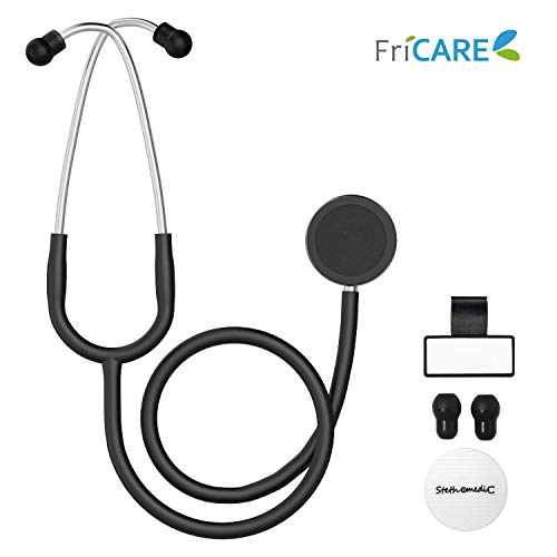 Find Bargain Dual Head Stethoscope for Medical and Home by FriCARE, Classic Lightweight Design, Stet...