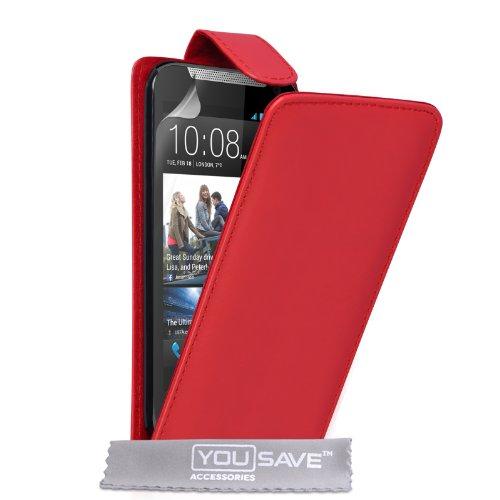 Yousave Accessories Kompatibel Für HTC Desire 310 Tasche PU Leder Klapp Hülle