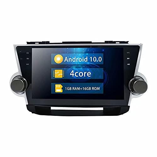 ROADYAKO Android 10.0 Car PC Play para Toyota Highlander 2008 2009 2010 2011 2012 2013 2014 Coche Original con Amplificador JBL AutoStereo Radio Auto GPS Navegación Medios WiFi RDS 4G
