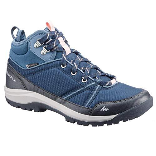 Quechua NH150 Mid Women's Waterproof Walking Boots - Blue (UK 6.5 - EU 40)