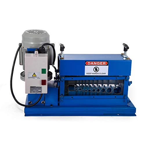Happybuy Cable Wire Stripping Machine 0.06 inch -1.5 inch,Portable Powered Wire Stripper Machine 11 Channels 10 Blades,Automatic Wire Stripping Tool 75ft/minute,for Recycling Copper Wire
