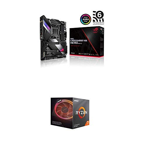 ASUS ROG X570 Crosshair VIII Hero (Wi-Fi) ATX Motherboard and AMD Ryzen 7 3800X 8-Core, 16-Thread