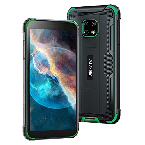 Unlocked Rugged Cell Phone | 2021 | 3-Day Battery | Unlocked | Made for US by Blackview | 4/64GB | 13MP Camera (Green)