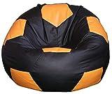 Egato Pouf 100CM Chaise Coussin Faux Cuir Foot Enfant Ballon de Football,