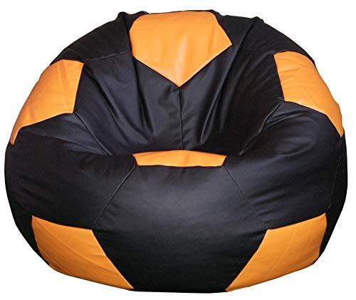 Puff puf pouf pouff poltrona sacco in ecopelle, simipelle pallone calcio ragazzo tifoso