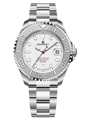 Gigandet Ocean King G404-001M - Reloj automático para hombre (fabricado en Alemania, cristal de zafiro, acero inoxidable, sumergible a 300 m, 30 bares)