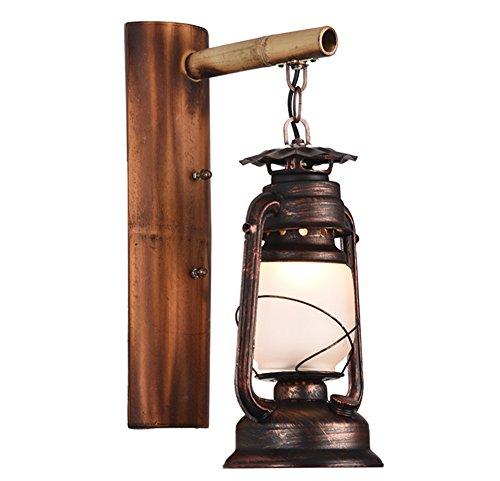 CHUANGJIE Retro Vintage ijzeren wandlamp van bamboe creatieve persoonlijkheid bed en breakfast Inn restaurant bar wandlamp antiek