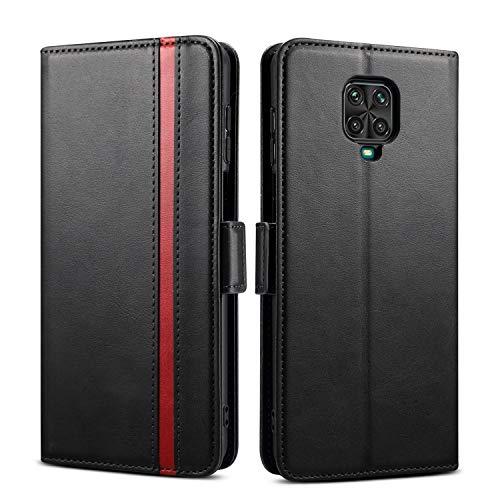 Rssviss Redmi Note 9 Pro Hülle, Redmi Note 9S Handyhülle mit Kartenfach, Note 9 Pro/9S Handy Schutzhülle/Klapphülle, Lederhülle mit Standfunktion, Ledertasche für Redmi Note 9 Pro/9S 6.67