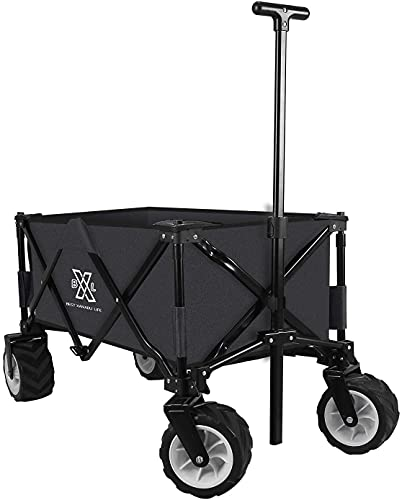 BXL Heavy Duty Collapsible Folding Wagon Garden Beach Cart Utility Wagon for Shopping Sports...