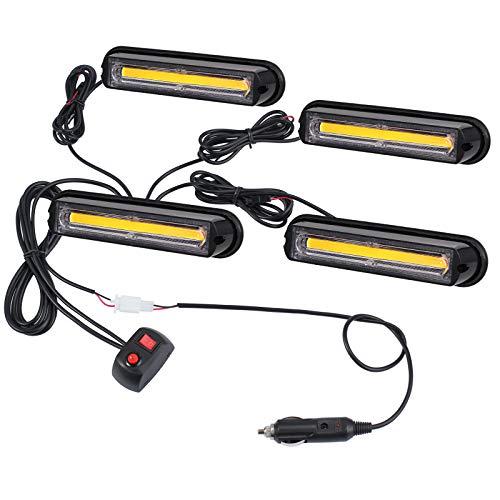 13cm COB Warnlicht Stroboskoplicht Warnung Beacon Blinklichter Blitzmodul Notfall Licht Achtung Blinklicht für Emergency, Repair, Escort Vehicles, Roof Rack, Kühlergrill, Dach usw.