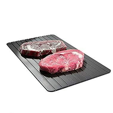 Aureate Black Defrost Tray The Quickest and Safest Way to Thaw Meat and Frozen Food