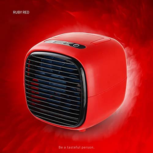 Skxinn Tragbare Klimaanlage, persönlicher Luftkühler - 2-in-1-Mini-USB-Klimaanlage, Luftreiniger, Desktop-Lüfter mit 2 Geschwindigkeiten Office Home Room Sommerschlussverkauf (Rot)