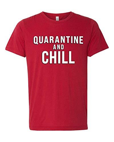 Camiseta masculina unissex triblend virus pandemic engraçada de manga curta de quartina e frio, Vermelho, 3X-Large