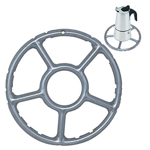 ToSSme Multi-Function Gas Ring Reducer Trivets Stove Top Hob Cooker Heat Simmer Coffee Pots 6-Inch Alloy