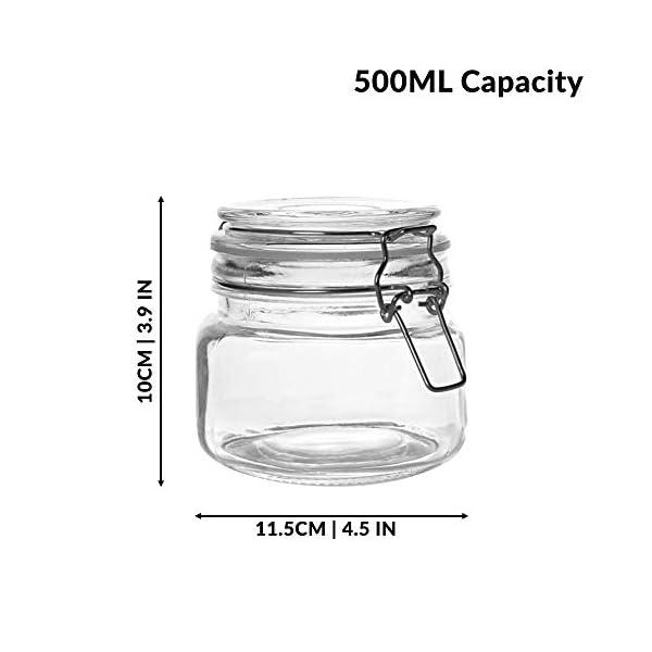 Set of 6 500ml Clip Top Chutney Jars 2