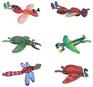 Rhode Island Novelty Foam Insect Gliders - Party Favor Pack of 12 pcs
