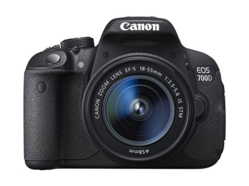 Canon EOS 700D SLR Camera Black 18-55mm IS STM 18MP 3.0Touch LCD FHD (Generalüberholt)