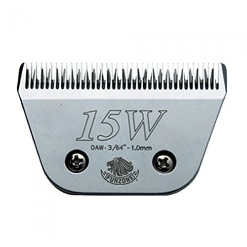 """#15W (0AW-3/64""""-1.0 mm) barber beauty clipper blades compatible with Oster, Andis, Conair, Wahl, Laube, Thrive - Furzone Furzone #15w"""