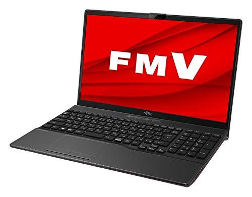 【公式】 富士通 ノートパソコン FMV LIFEBOOK AHシリーズ WAB/E3 (Windows 10 Home/15.6型ワイド液晶/AMD 3020e/4GBメモリ/約256GB SSD/スーパーマルチドライブ/Office Personal 2019/ブライトブラック)FMVWE3AB12_AZ/富士通WEB MART専用モデル[3/24まで・台数限定]